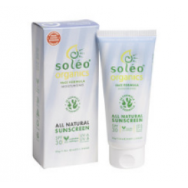 Soléo Organics 日焼け止めクリーム SPF30 顔用80g